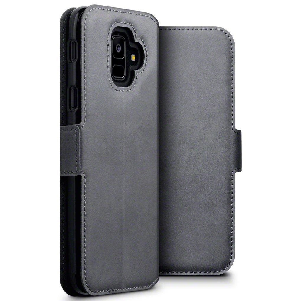Terrapin Low Profile Δερμάτινη Θήκη - Πορτοφόλι Samsung Galaxy A6 2018 - Grey (117-002a-057)