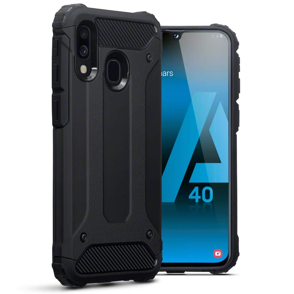 Terrapin Ανθεκτική Θήκη Double Layer Impact Samsung Galaxy A40 - Black (131-002-166)