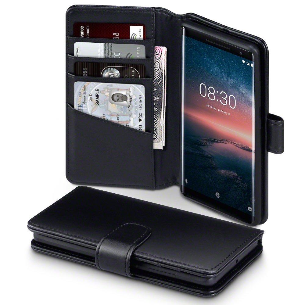 Terrapin Δερμάτινη Θήκη - Πορτοφόλι Nokia 8 Sirocco - Black (117-001-272)