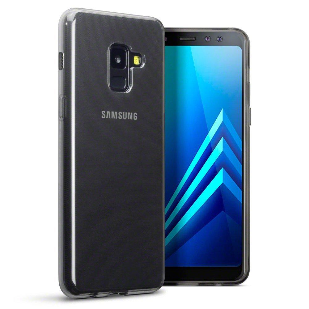 Terrapin Ημιδιάφανη Θήκη Σιλικόνης Samsung Galaxy A8 2018 - Smoke Black (118-002-658)