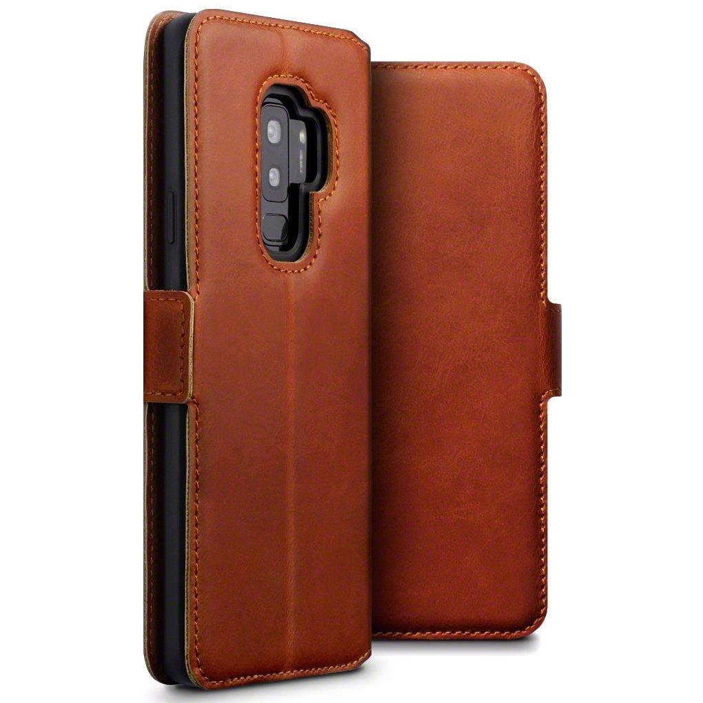Terrapin Low Profile Δερμάτινη Θήκη - Πορτοφόλι Samsung Galaxy S9 Plus - Cognac (117-002a-048)