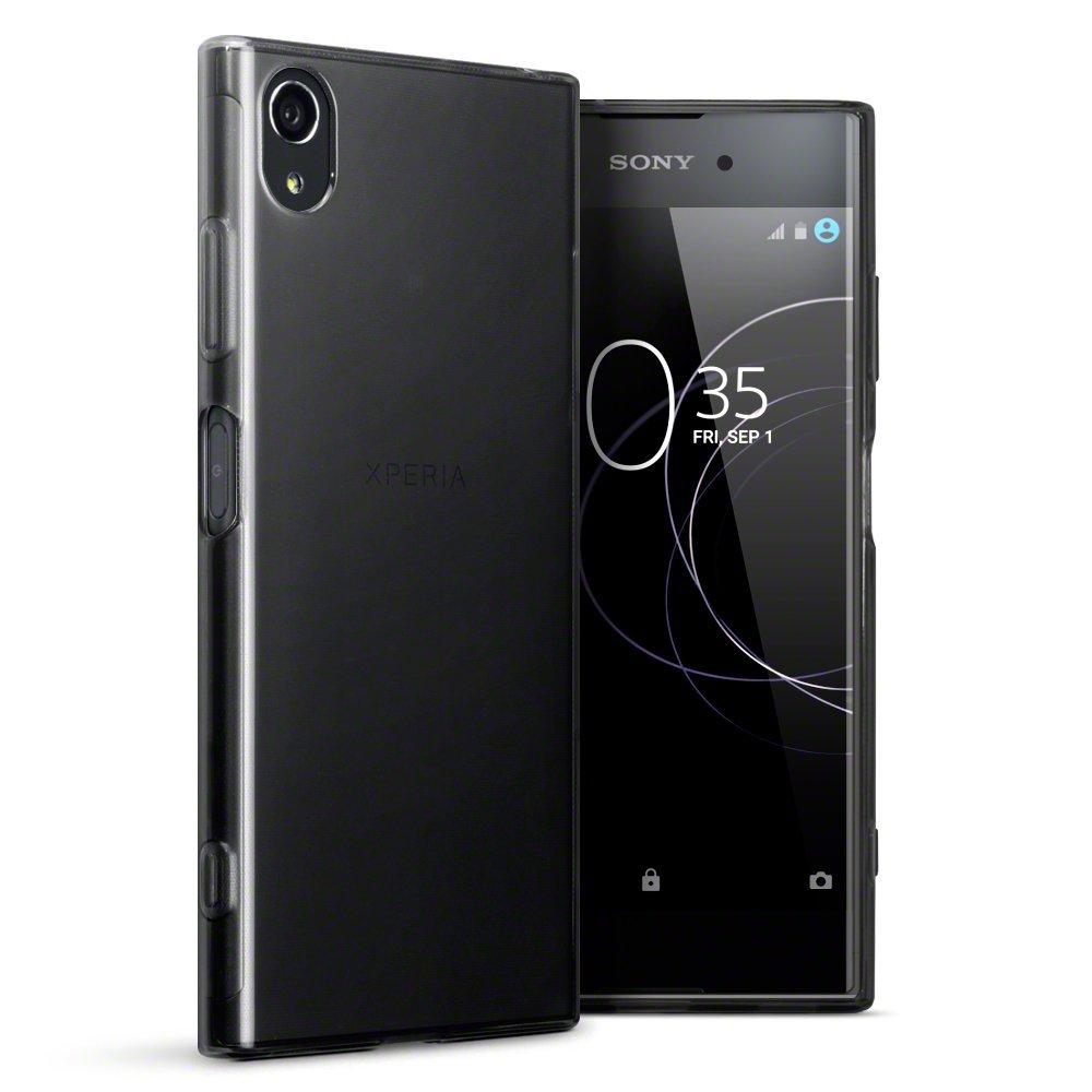 Terrapin Ημιδιάφανη Θήκη Σιλικόνης Sony Xperia XΑ1 Plus - Smoke Black (118-005-413)
