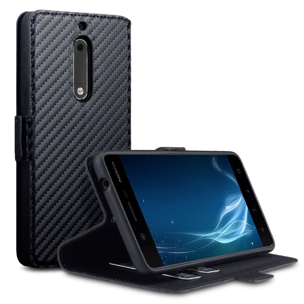 Terrapin Θήκη Πορτοφόλι Nokia 5 - Black Carbon (117-001-263)