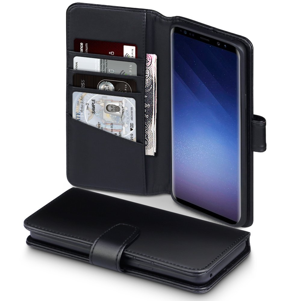 Terrapin Δερμάτινη Θήκη - Πορτοφόλι Samsung Galaxy S9 Plus - Black (117-002a-034)
