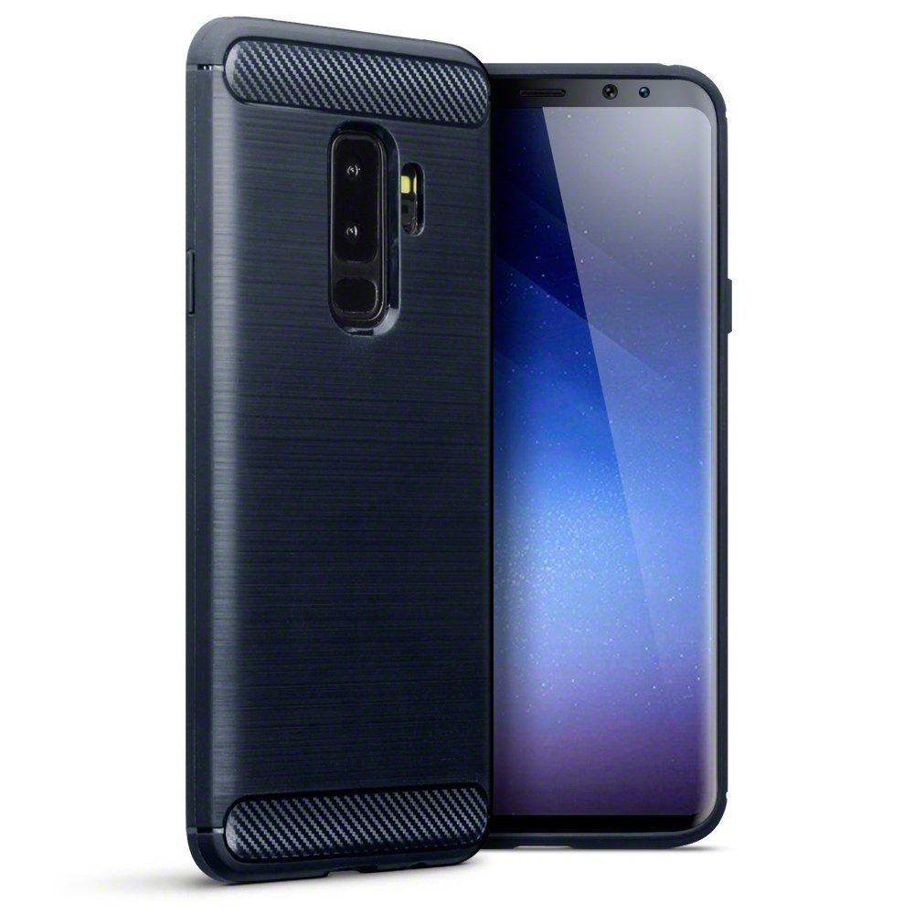 Terrapin Θήκη Σιλικόνης Carbon Fibre Design Samsung Galaxy S9 Plus - Dark Blue (118-002-685)