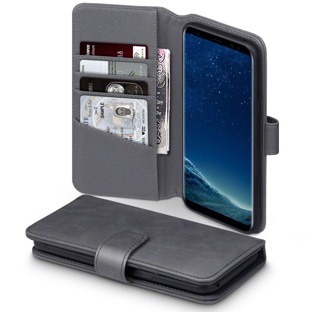 Terrapin Δερμάτινη Θήκη - Πορτοφόλι Samsung Galaxy S8 Plus - Grey (117-002-983)