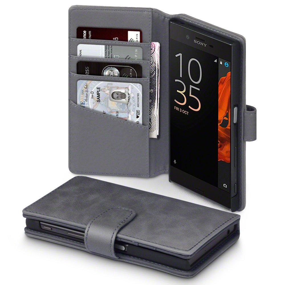 Terrapin Δερμάτινη Θήκη Πορτοφόλι Sony Xperia XZ/ XZs - Grey (117-005-508)