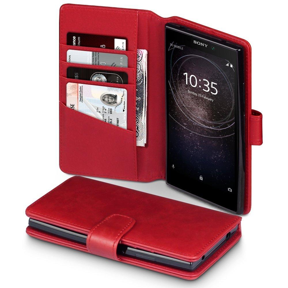 Terrapin Δερμάτινη Θήκη - Πορτοφόλι Sony Xperia L2 - Red (117-005-563)