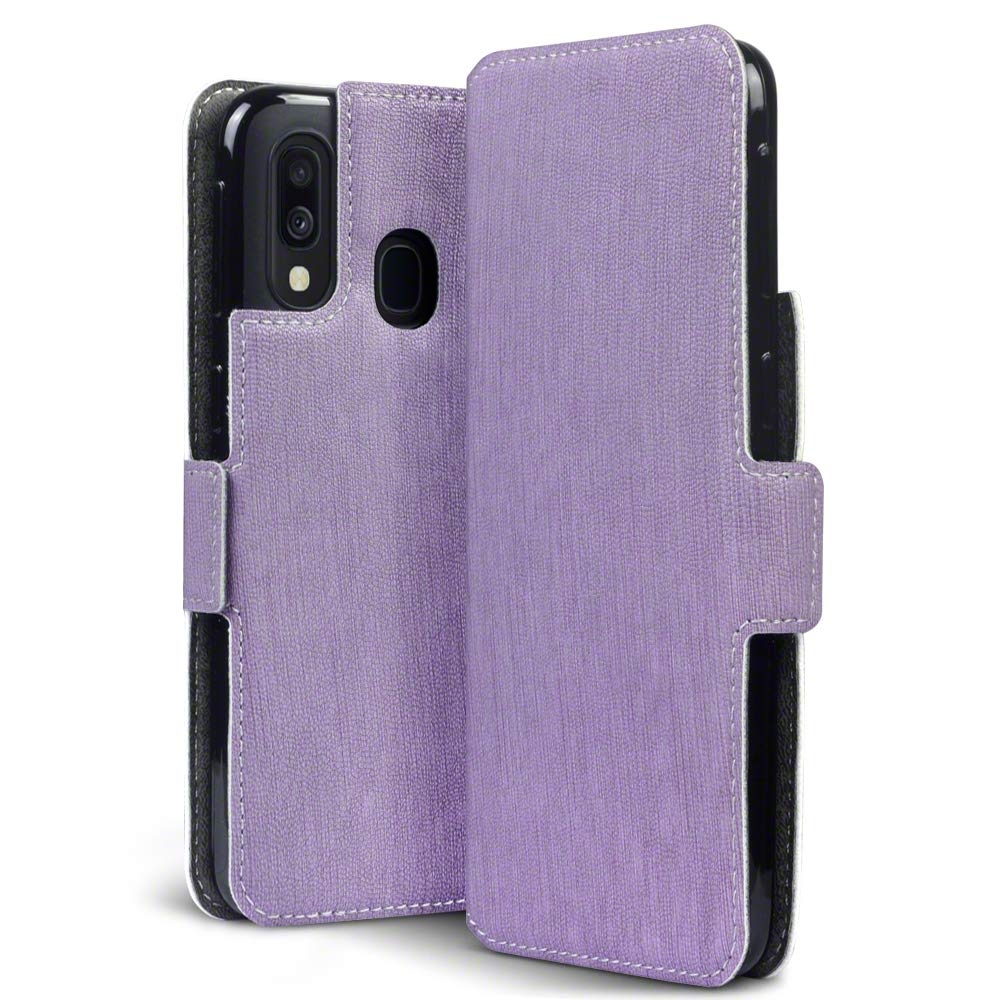 Terrapin Low Profile Θήκη - Πορτοφόλι Samsung Galaxy A40 - Purple (117-002a-147)