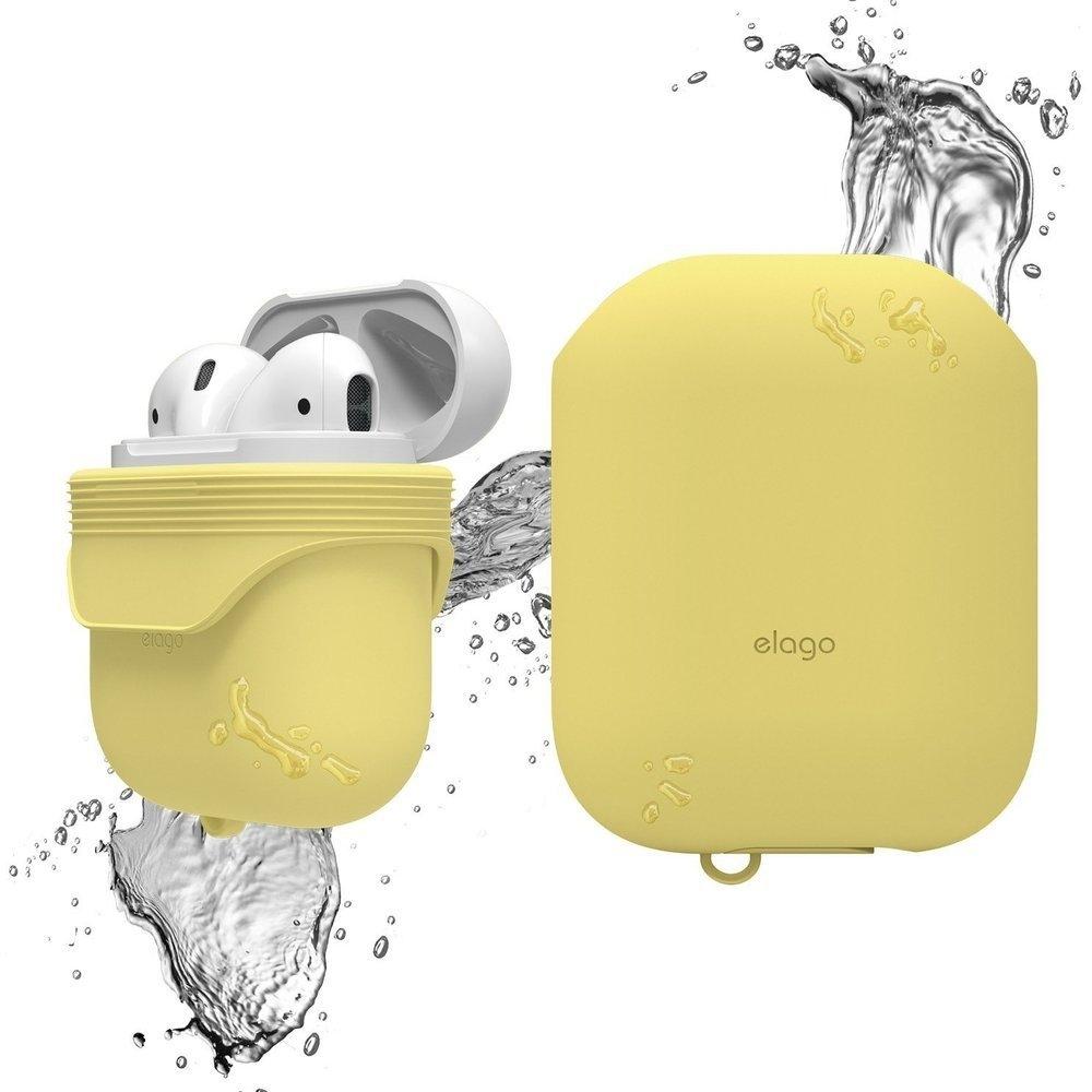 Elago AirPods Waterproof Case - Αδιάβροχη Θήκη για AirPods 2nd Gen / 1st Gen - Creamy Yellow (EAPWF-BA-CYE)