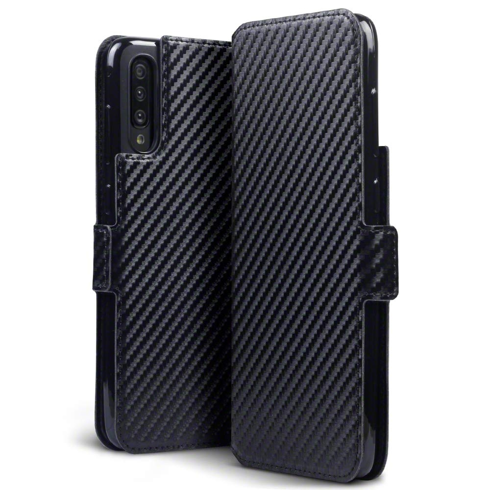 Terrapin Low Profile Θήκη - Πορτοφόλι Carbon Fibre Samsung Galaxy A70 - Black (117-002a-157)