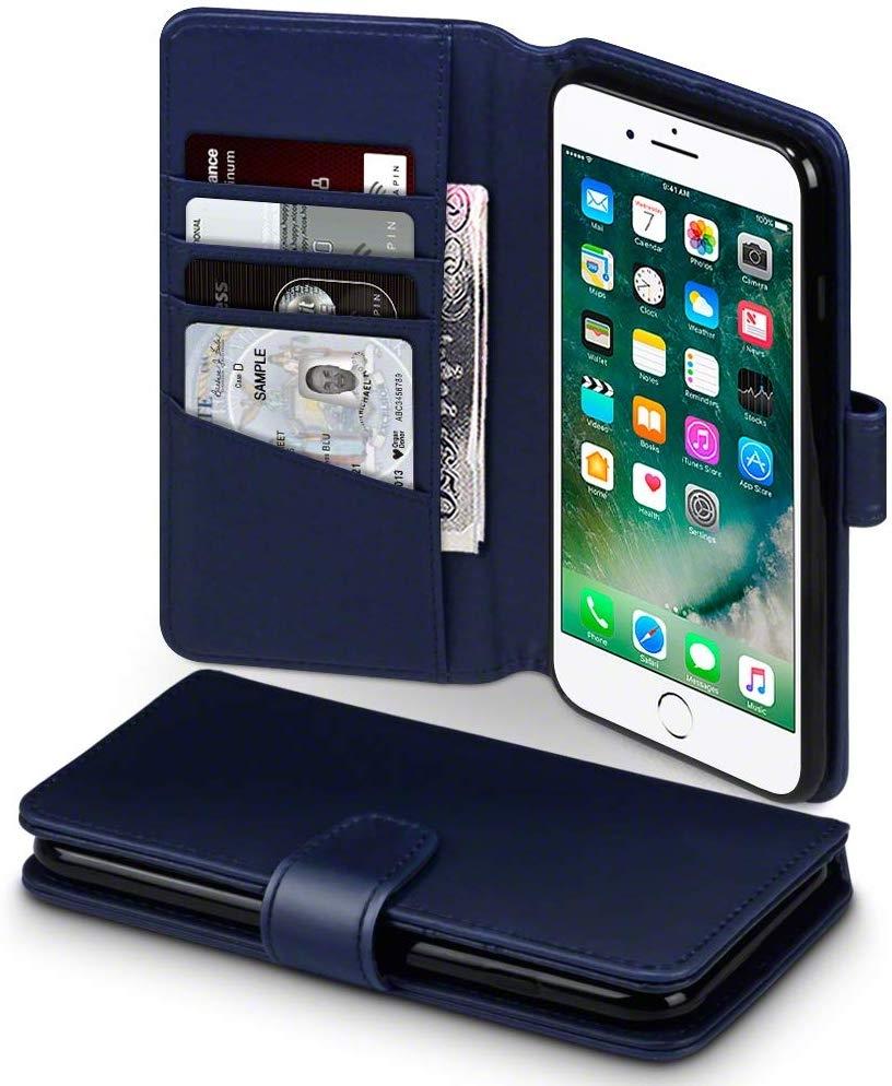 Terrapin Θήκη iPhone 8 Plus / iPhone 7 Plus - Πορτοφόλι (117-123-020) - Blue