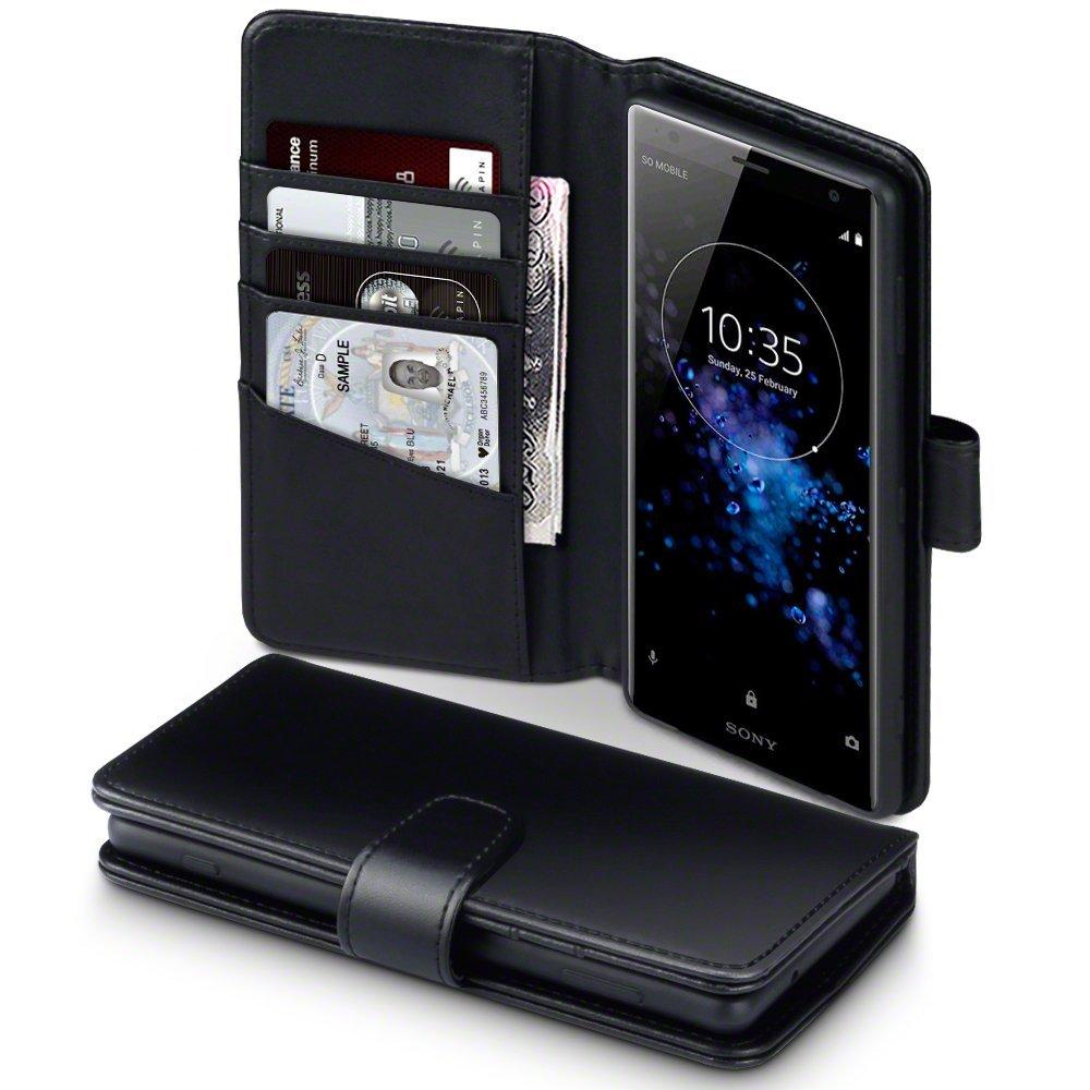 Terrapin Δερμάτινη Θήκη - Πορτοφόλι Sony Xperia XZ2 - Black (117-005-605)