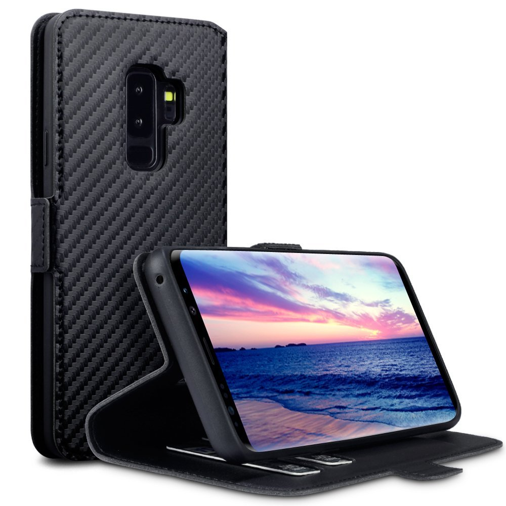 Terrapin Θήκη - Πορτοφόλι Samsung Galaxy S9 Plus - Black Carbon Fibre (117-002a-042)