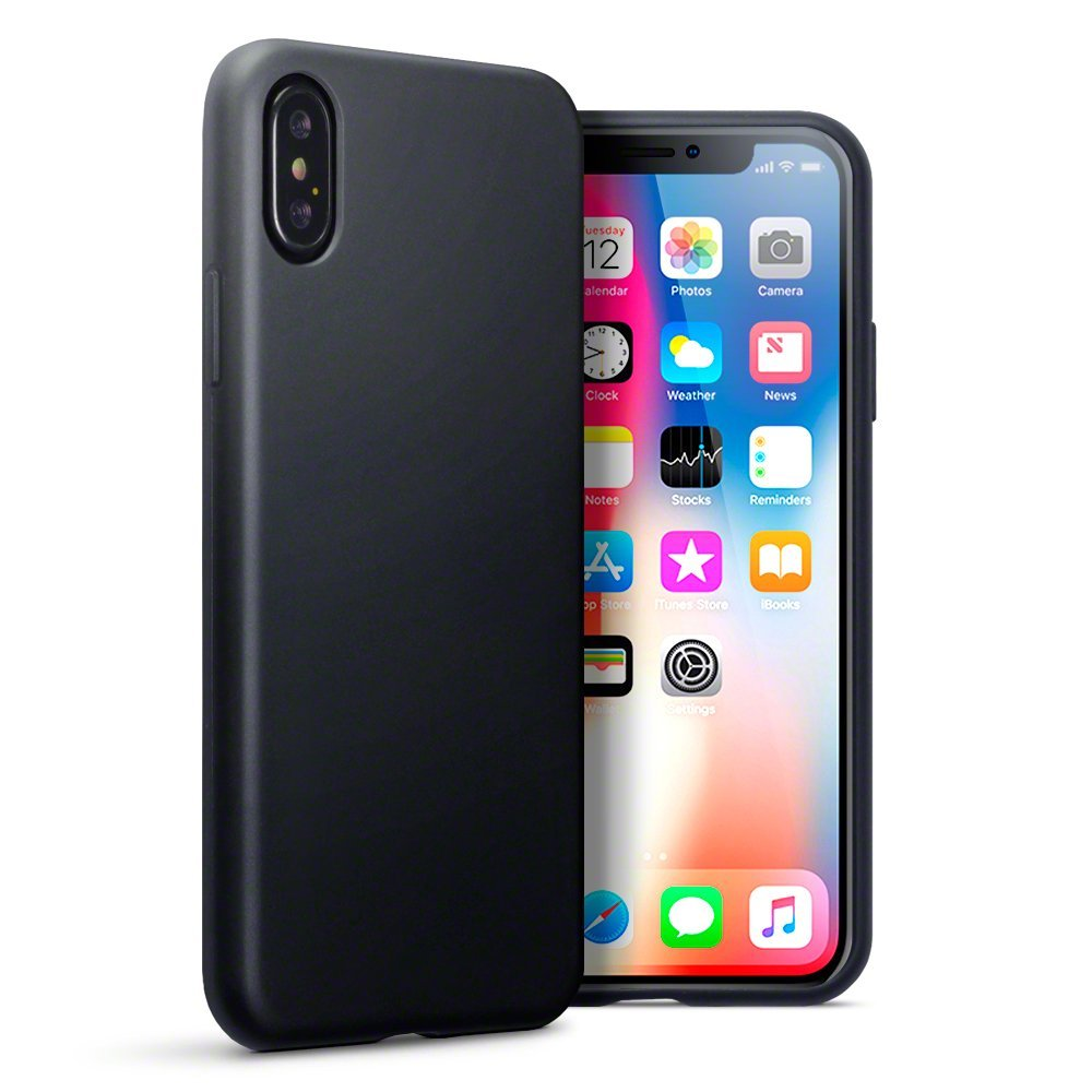 Terrapin Θήκη Σιλικόνης iPhone X / XS - Black Matte (118-125-001)