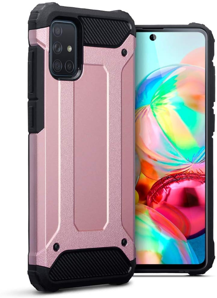 Terrapin Ανθεκτική Θήκη Double Layer Impact Samsung Galaxy A71 - Rose Gold (131-002-216)