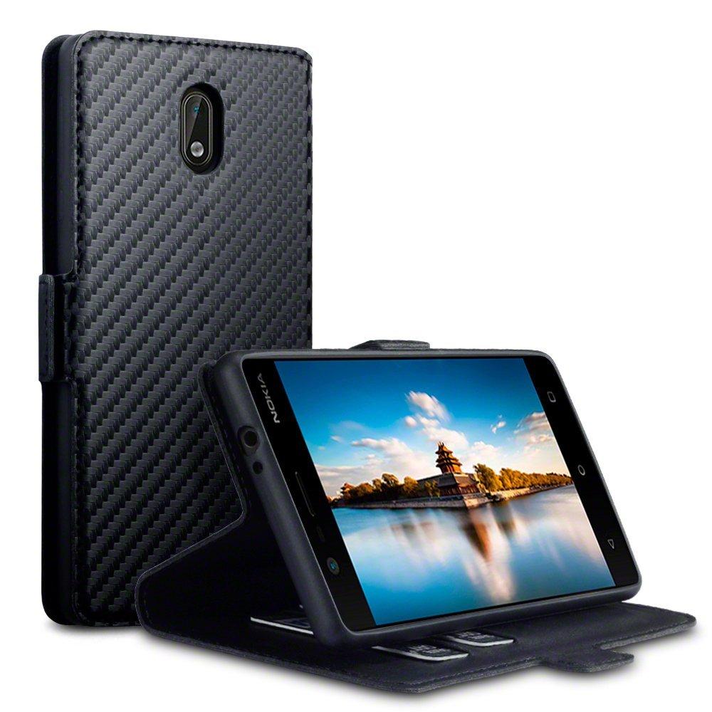 Terrapin Θήκη - Πορτοφόλι Nokia 3 - Black Carbon (117-001-259)
