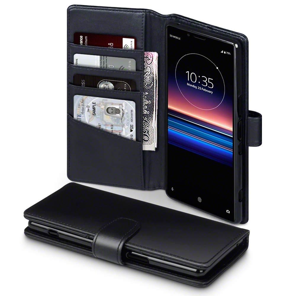 Terrapin Δερμάτινη Θήκη - Πορτοφόλι Sony Xperia 1 - Black (117-005-664)