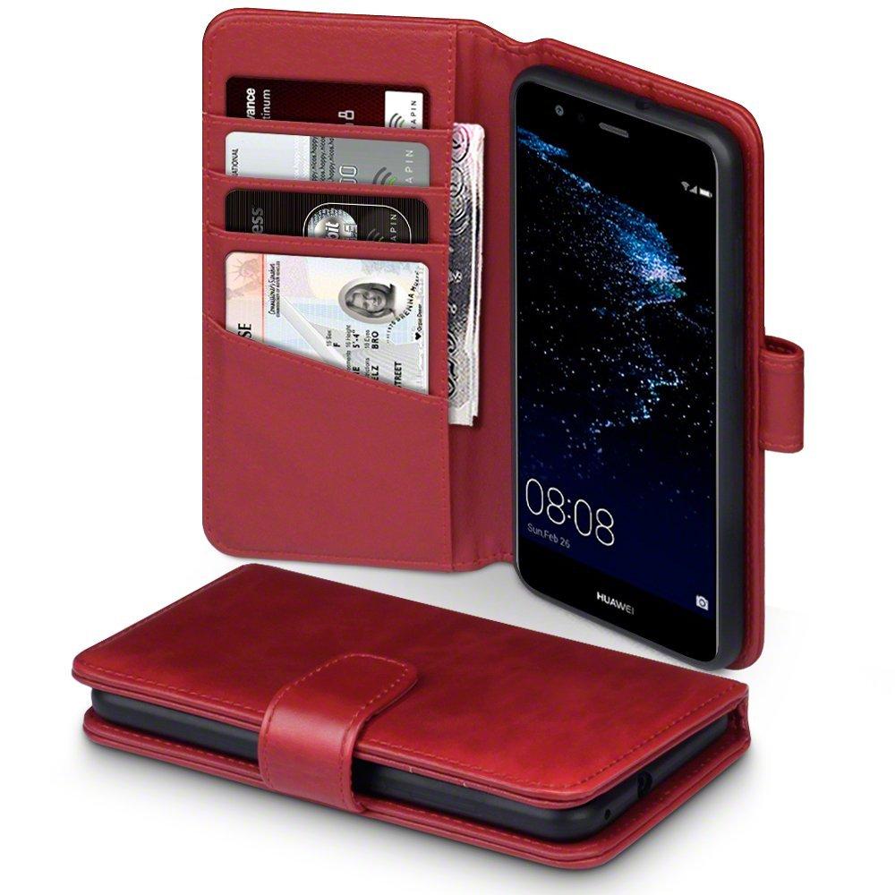 Terrapin Δερμάτινη Θήκη Πορτοφόλι Huawei P10 Lite - Red (117-083-146)