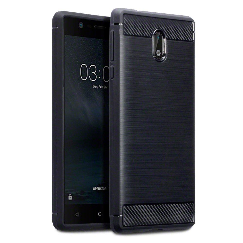 Terrapin Θήκη Σιλικόνης Carbon Fibre Nokia 3 - Black  (118-001-235)