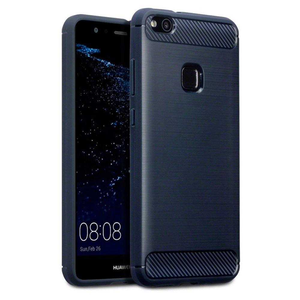 Terrapin Θήκη Σιλικόνης Carbon Fibre Design Huawei P10 Lite - Dark Blue (118-083-125)