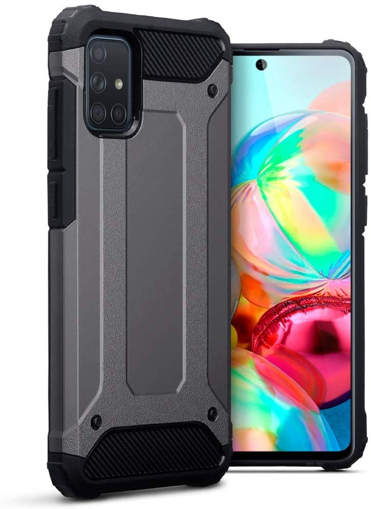 Terrapin Ανθεκτική Θήκη Double Layer Impact Samsung Galaxy A71 - Gunmetal (131-002-215)