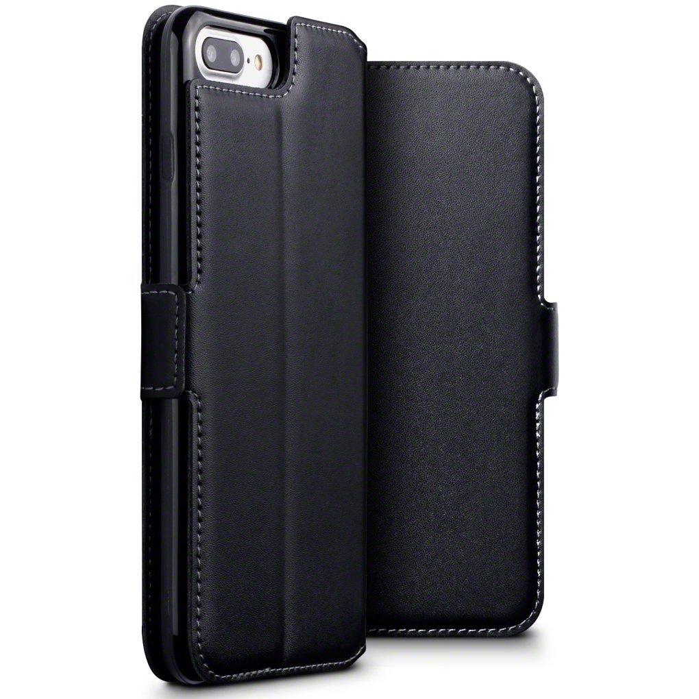 Terrapin Low Profile Δερμάτινη Θήκη - Πορτοφόλι iPhone 8 Plus/ 7 Plus - Black (117-123-016)