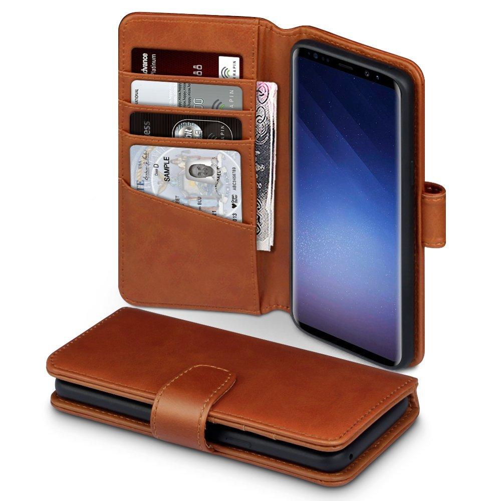 Terrapin Δερμάτινη Θήκη - Πορτοφόλι Samsung Galaxy S9 - Cognac(117-002a-025)