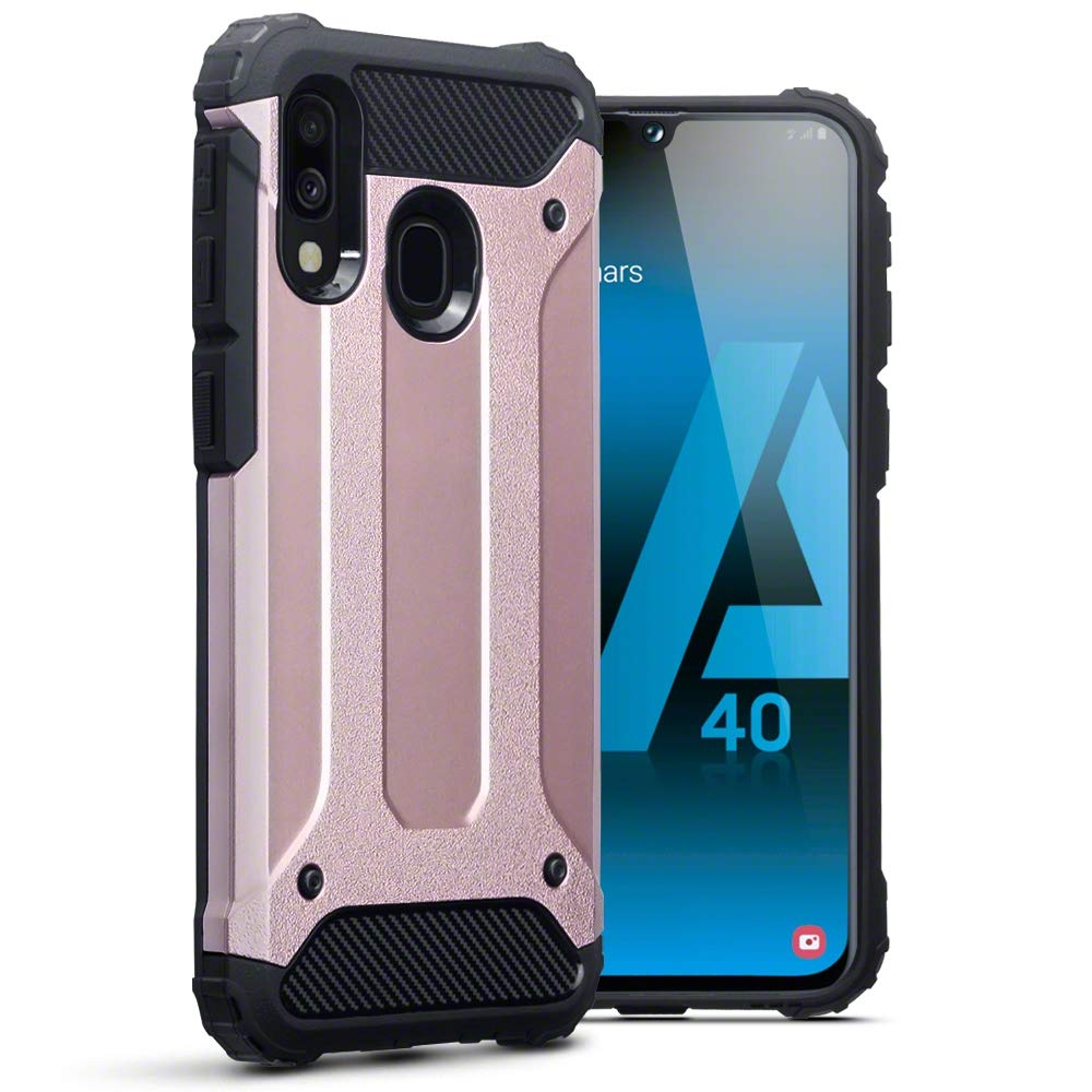 Terrapin Ανθεκτική Θήκη Double Layer Impact Samsung Galaxy A40 - Rose Gold (131-002-168)
