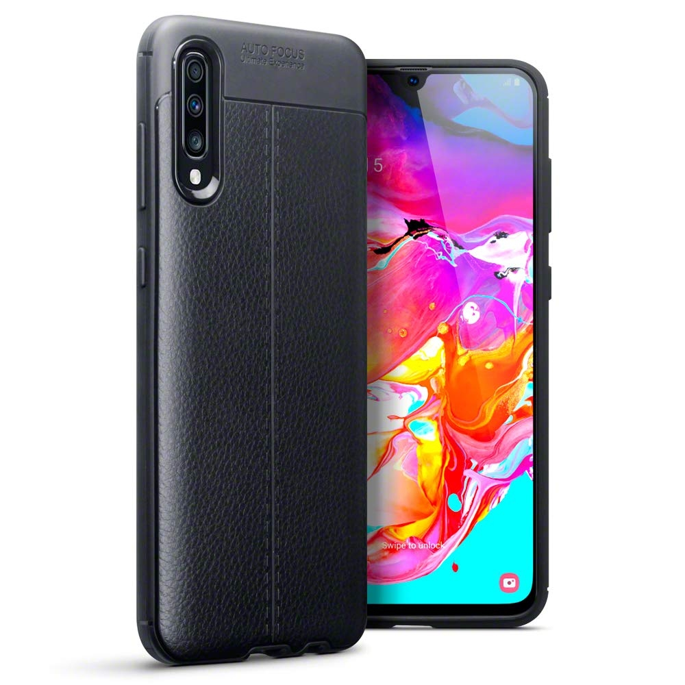 Terrapin Θήκη TPU Leather Design - Samsung Galaxy A70 - Black (118-002-771)