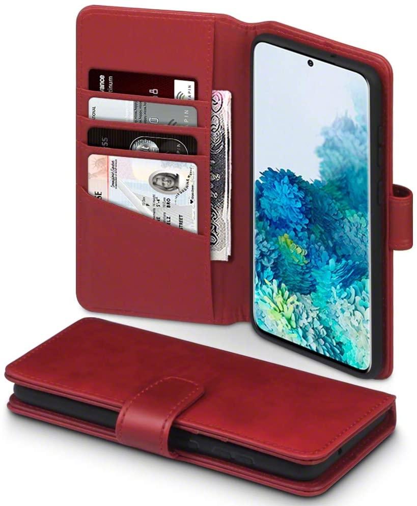 Terrapin Δερμάτινη Θήκη - Πορτοφόλι Samsung Galaxy S20 Plus - Red (117-002a-238)
