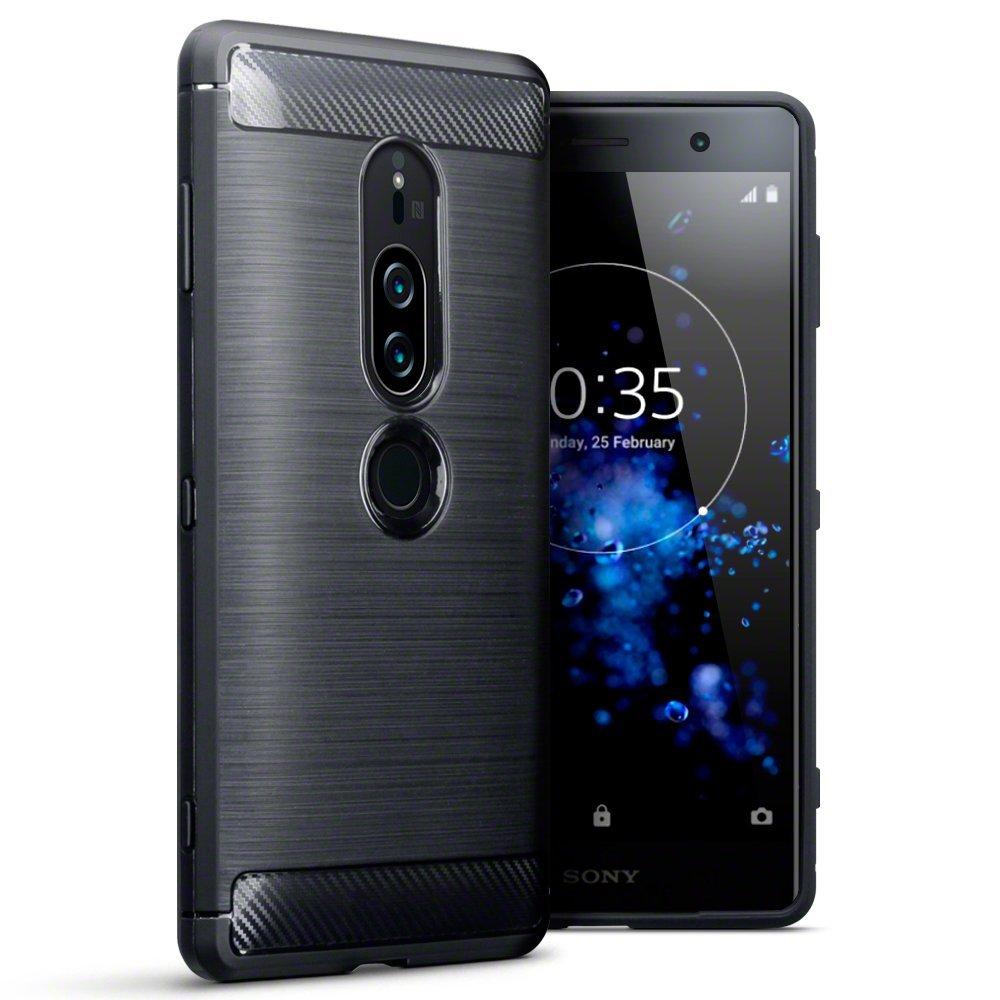 Terrapin Θήκη Σιλικόνης Carbon Fibre Design Sony Xperia XZ2 Premium - Black (118-005-481)