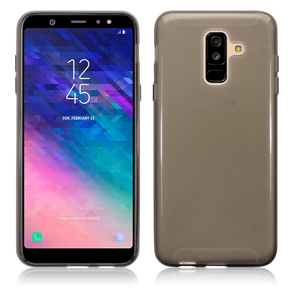 Terrapin Ημιδιάφανη Θήκη Σιλικόνης Samsung Galaxy A6 Plus 2018 - Smoke Black (118-002-695)