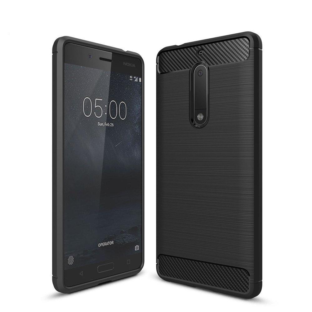 Θήκη TPU Carbon Nokia 5 - Black - OEM (11100)