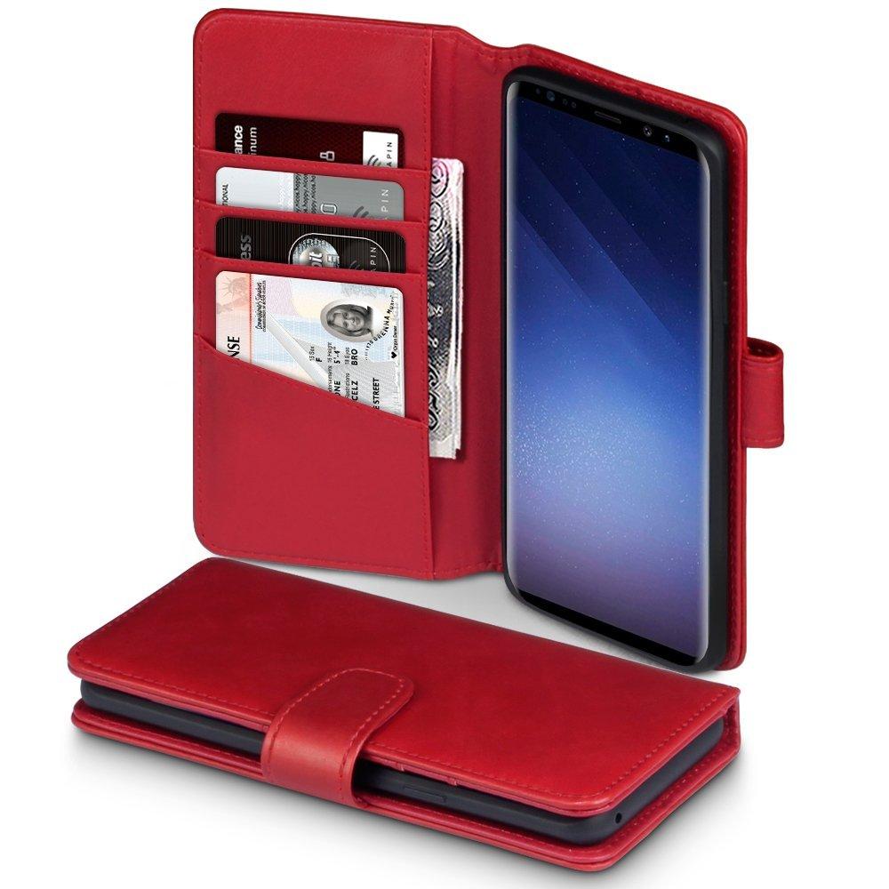 Terrapin Δερμάτινη Θήκη - Πορτοφόλι Samsung Galaxy S9 Plus - Red (117-002a-037)