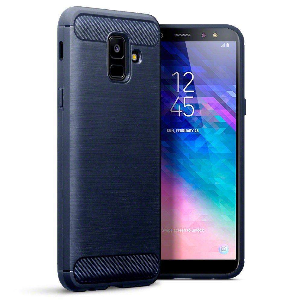 Terrapin Θήκη Σιλικόνης Carbon Fibre Design Samsung Galaxy A6 2018 - Dark Blue (118-002-694)