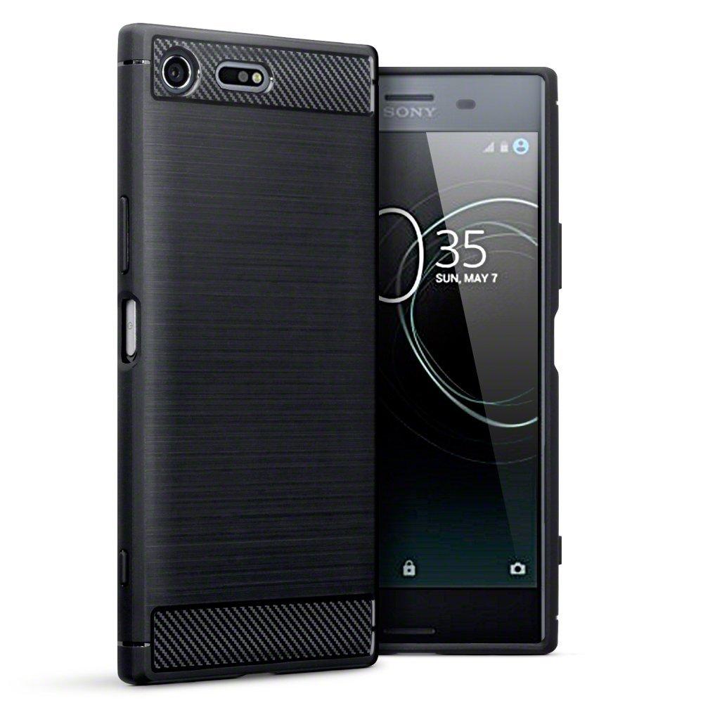 Terrapin Θήκη Σιλικόνης Carbon Fibre Design Sony Xperia XZ Premium - Black (118-005-378)