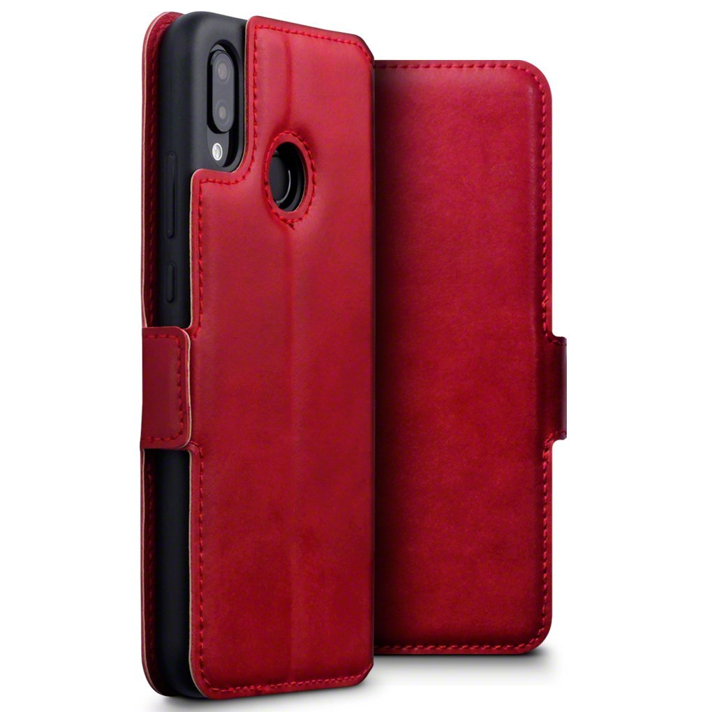 Terrapin Low Profile Δερμάτινη Θήκη - Πορτοφόλι Huawei P20 Lite - Red (117-083-189)