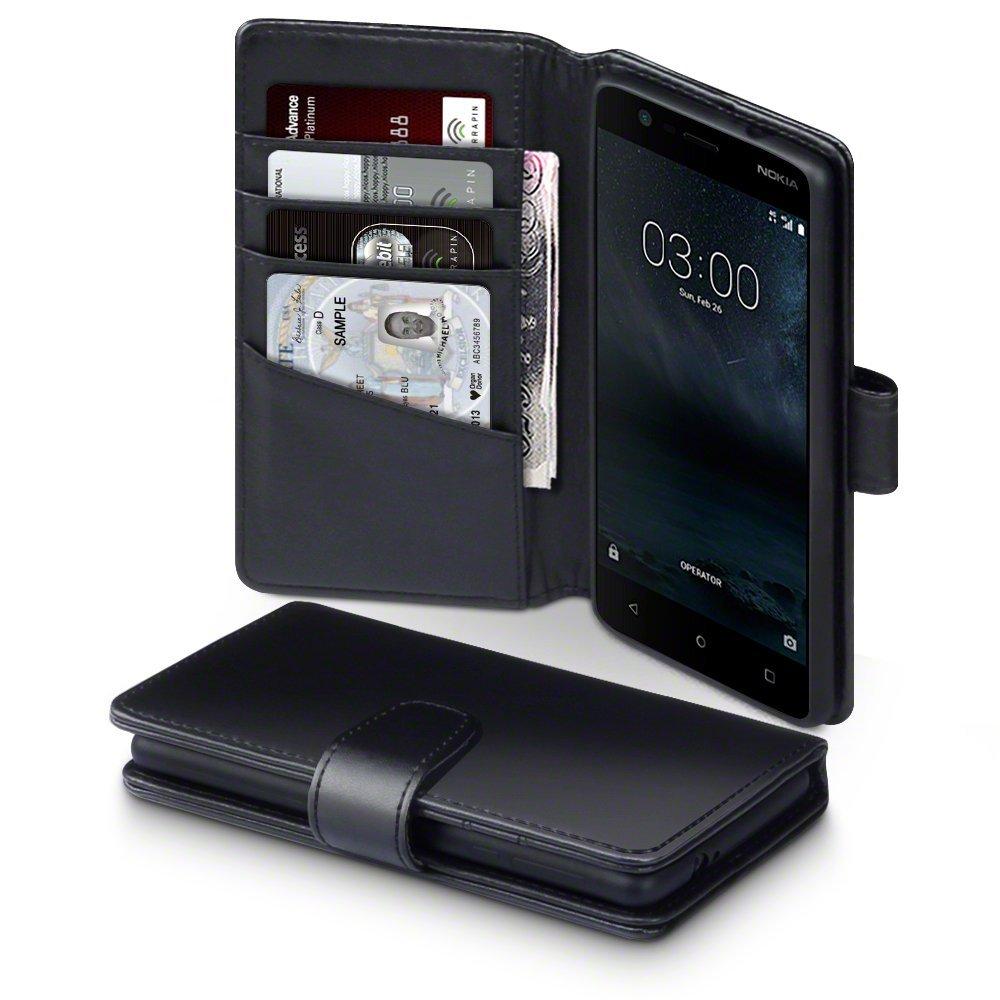 Terrapin Δερμάτινη Θήκη Πορτοφόλι Nokia 3 - Black (117-001-248)