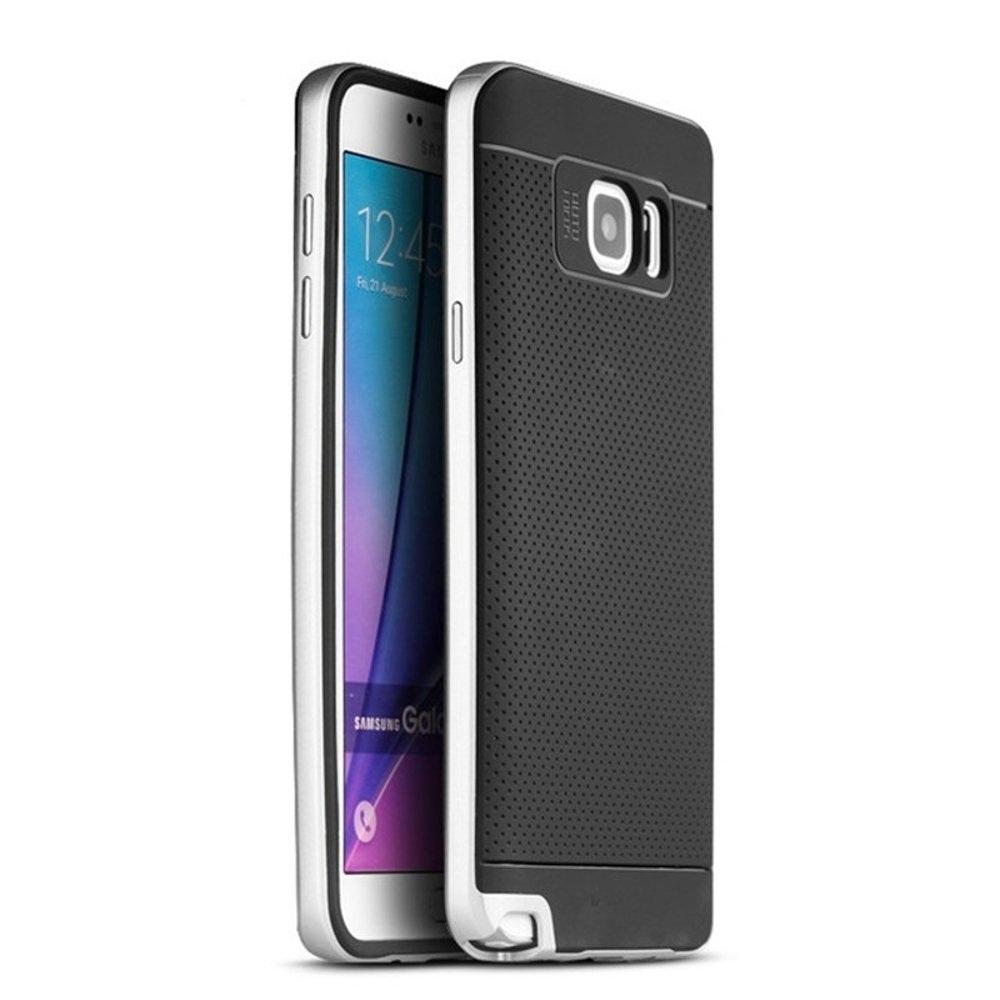 Ipaky Θήκη Hybrid Samsung Galaxy Note 4 - Silver (10738)