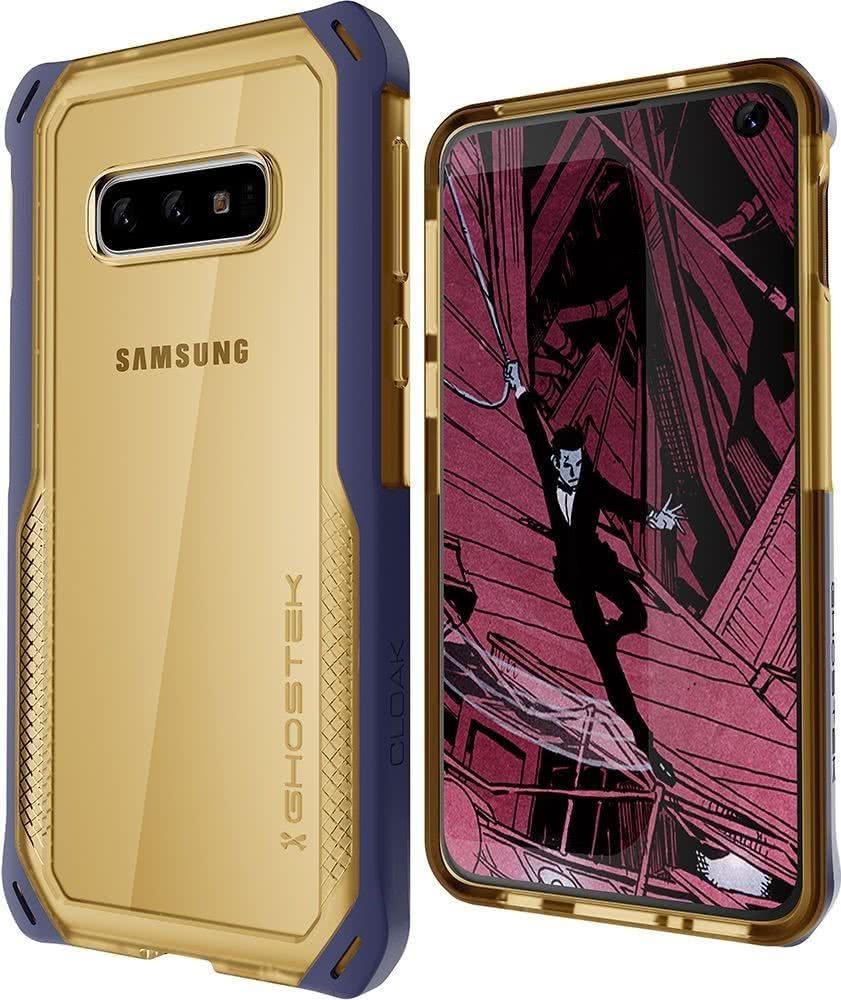 Ghostek Cloak 4 Series Θήκη Samsung S10e - Blue / Gold Clear (GHOCAS2082)