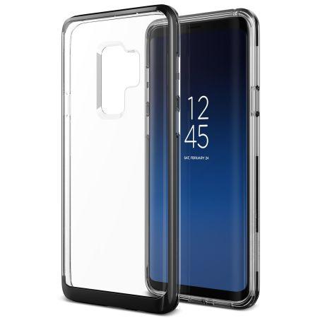 VRS Design Θήκη Crystal Bumper Samsung Galaxy S9 Plus - Metal Black (VRSGS9P-CRBMB)