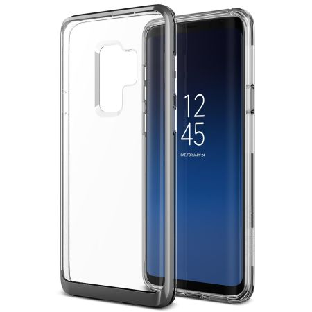 VRS Design Θήκη Crystal Bumper Samsung Galaxy S9 Plus - Steel Silver (VRSGS9P-CRBSS)