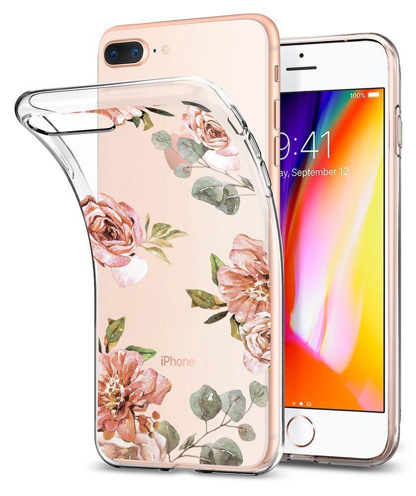 Spigen Θήκη Liquid Crystal iPhone 8 Plus / 7 Plus - Aquarelle Rose (055CS22621)