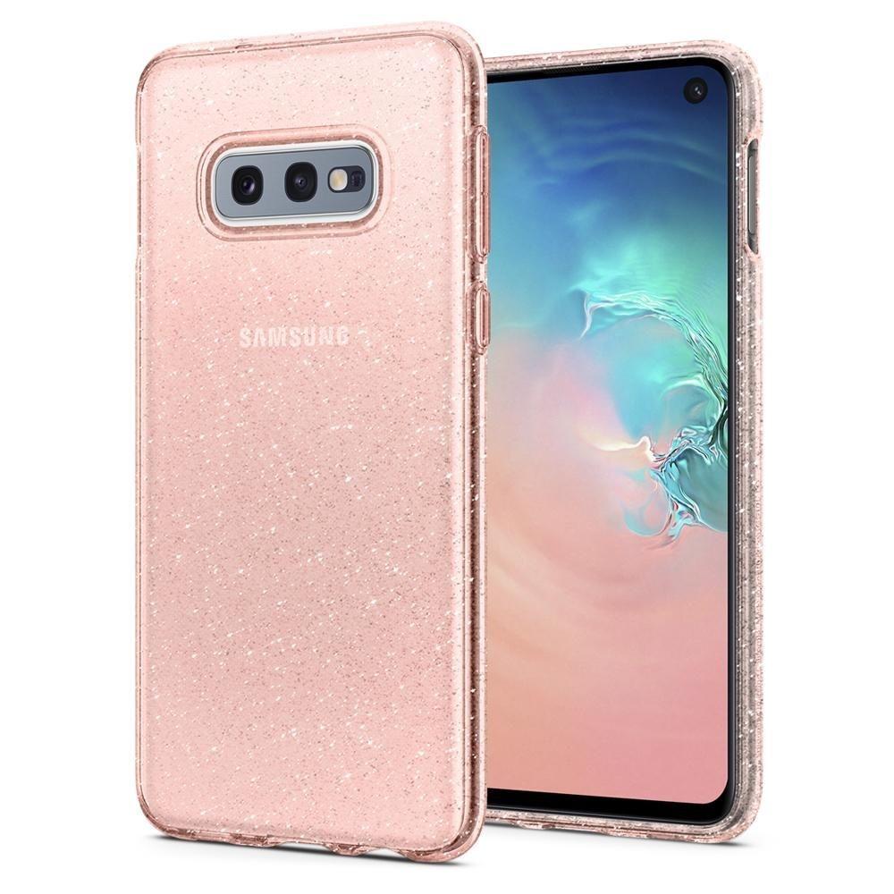 Spigen Θήκη Σιλικόνης Liquid Crystal Glitter Samsung Galaxy S10e - Rose Quartz (609CS25835)