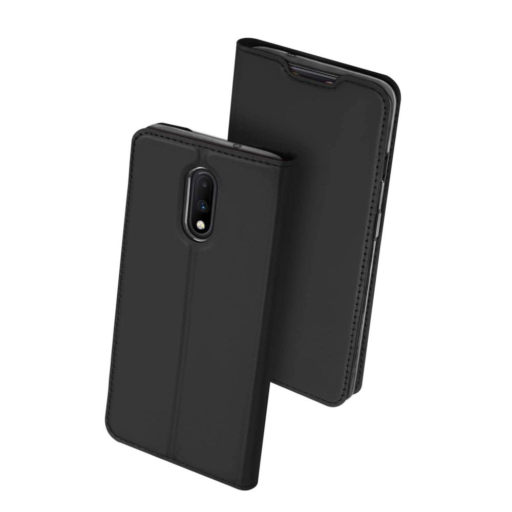 Duxducis Skin Θήκη Πορτοφόλι OnePlus 7 - Pure Black (50089)