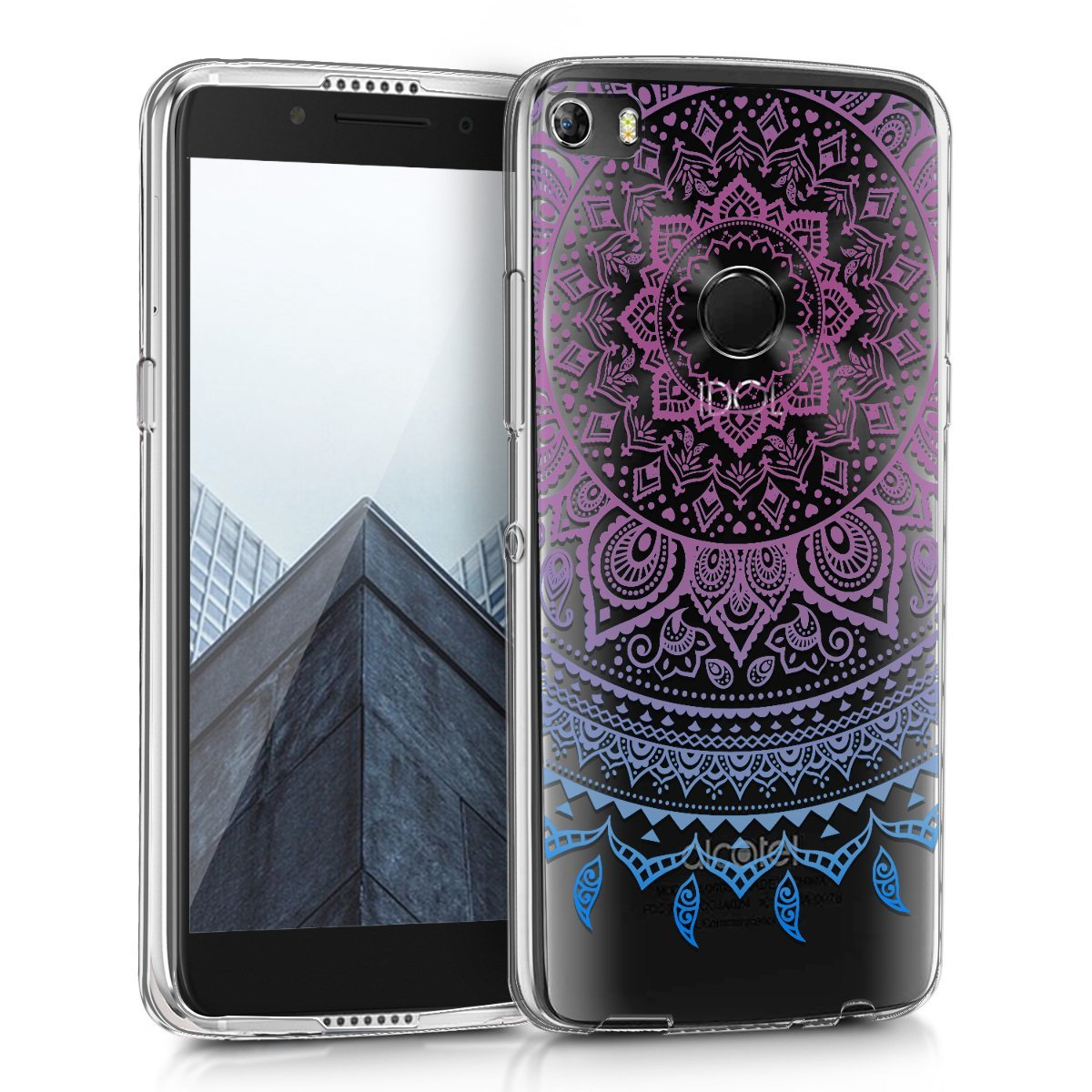 KW Θήκη Σιλικόνης Alcatel Idol 5s - Design Indian Sun (43178.01)