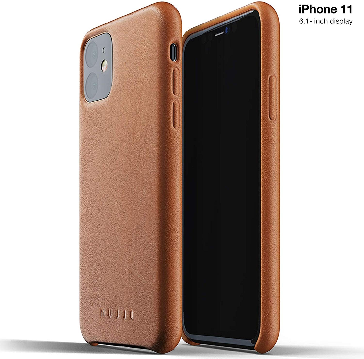 MUJJO Full Leather Case - Δερμάτινη Θήκη iPhone 11 - Tan (MUJJO-CL-005-TN)