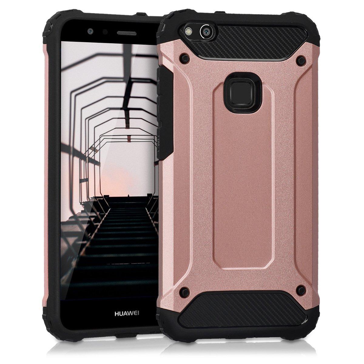 KW Hybrid Θήκη Transformer Design Huawei P10 Lite - Rose Gold/Black (41382.02)