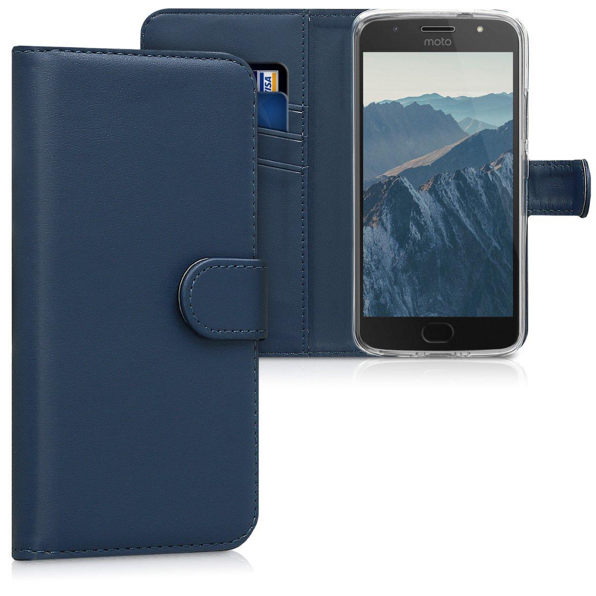 KW Θήκη - Πορτοφόλι Motorola Moto G5S - Dark Blue (42813.17)